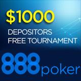 888 Poker Indskydere Freeroll Turnering