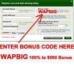 bónus PartyPoker - como inserir o código de bónus