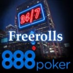 24-7 Freeroll Tournois à 888 Poker
