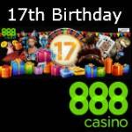 888 Geburtstagsbonus feiert 17 Jahre