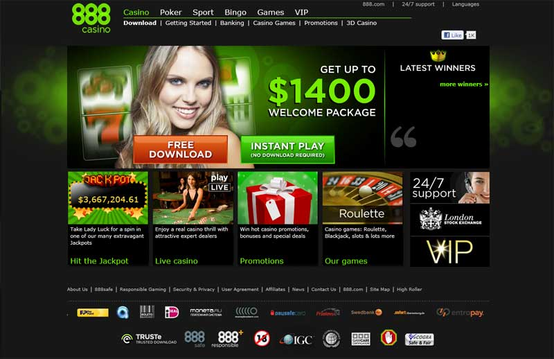 888 casino instant play login