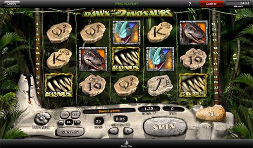 Dawn af Dinosaurs slot - spil 888 slots gratis