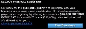 888 poker freeroll frenzy
