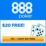888 Poker Bonus sul Primo Deposito