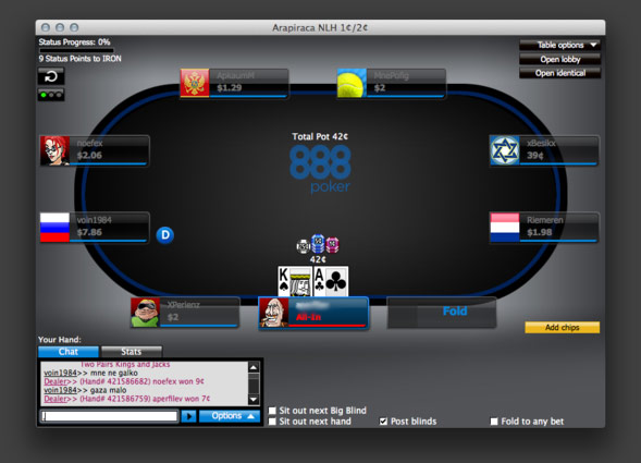 poker 888 download mac