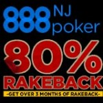 80% Rakeback - 888Poker New Jersey