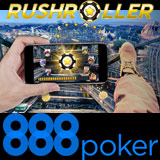 RushRoller Turneringar Kampanj 888 Poker