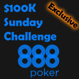 888 poker sunday challenge tournament