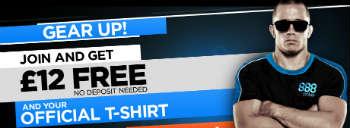 888 Poker free T-Shirt for UK