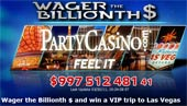 PartyCasino Fire Drake Online Slot Machine Bet Billionth Dollar Promo