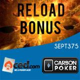 ACED CarbonPoker Poker Code de bonus reload