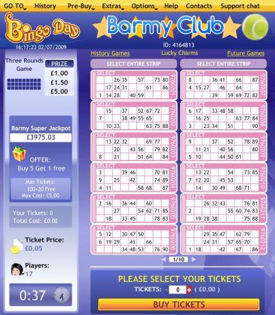 Barney klubben 90 ball bingo UK & svensk Bingo spill online