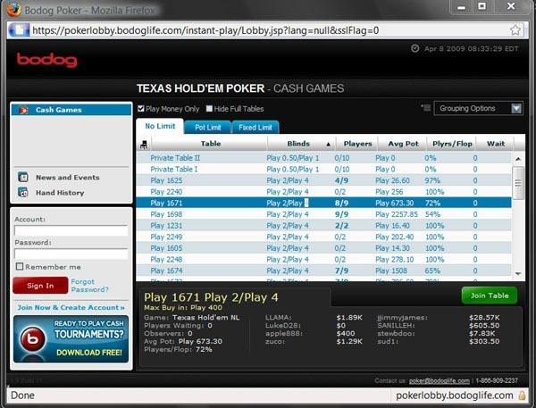 Bodog poker mobile download