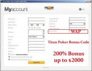 bonus code titan poker
