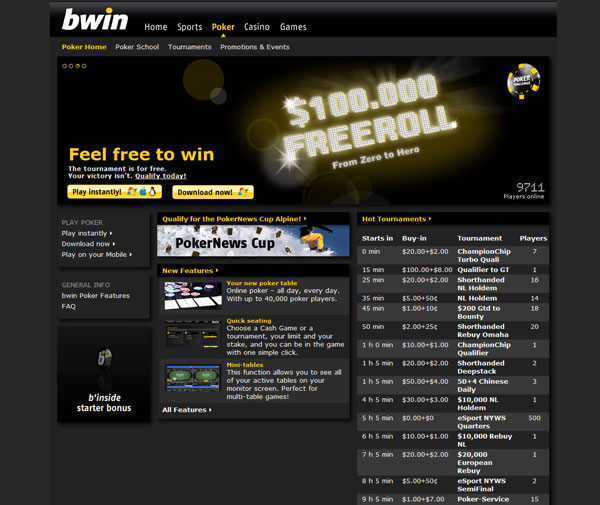bwin corporate website