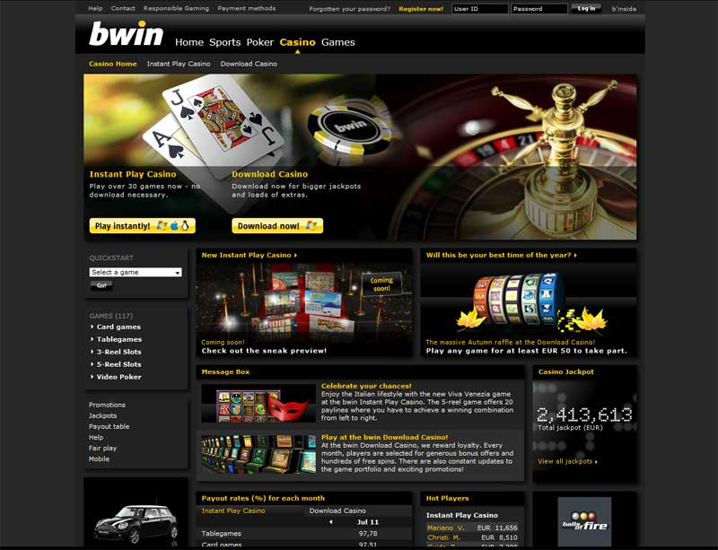 bwin casino software