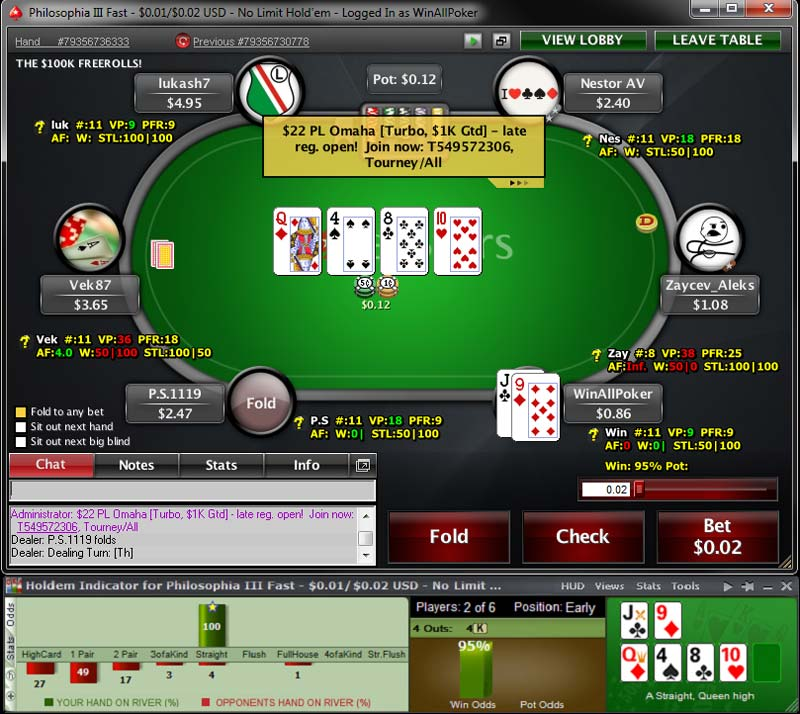 odds poker