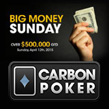 Carbon Poker Big Money Sonntagsturniere