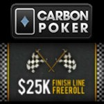 Carbon Poker Freeroll Turnier Finish Line