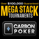 carbon poker mega stack tournaments