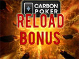 Carbon Poker reload bonus code
