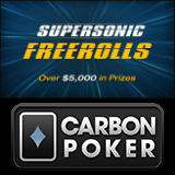 Carbon Poker Supersonic Freeroll-Turniere