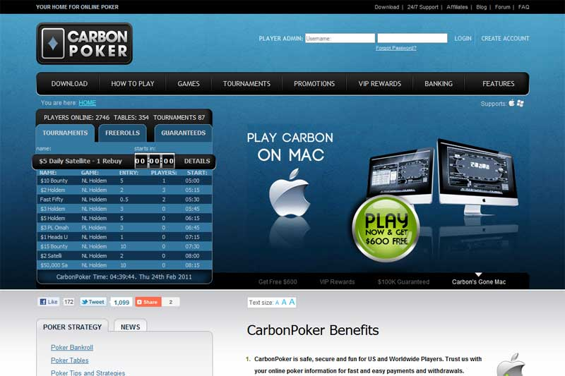 Review carbon poker