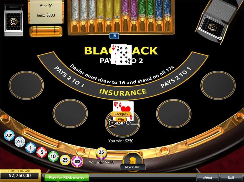 Blackjack one player