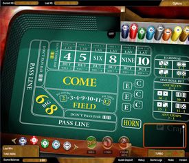 PartyCasino Craps Table
