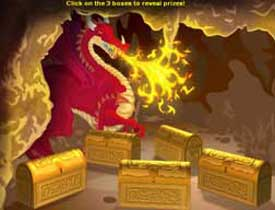 PartyCasino fire drake dragon lair - select a chest choose 3 items