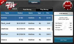 full tilt poker lobby mobile