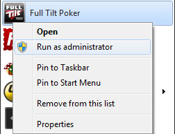 full tilt poker update error
