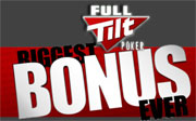 full tilt poker biggest bonus ever -