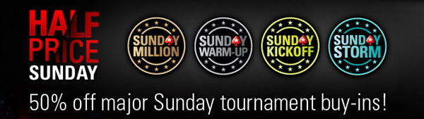 half price sunday pokerstars
