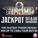 Ignition Poker Jackpot Sit & Go Tournaments