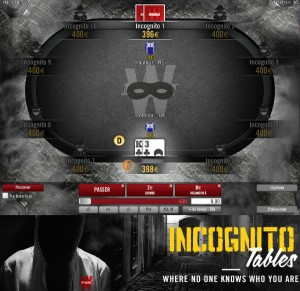 Winamax Incognito Poker - Anonyme Pokerspiele