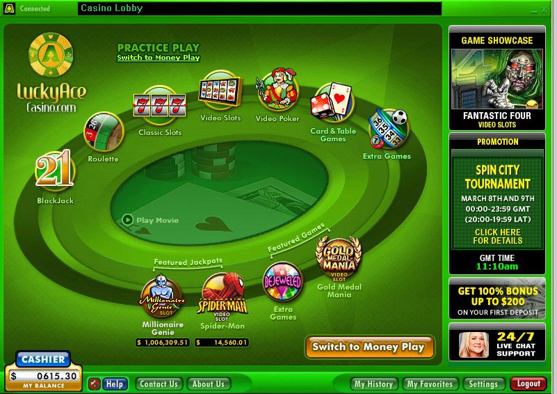 lucky ace poker live chat