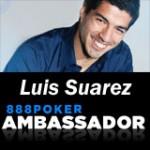 Luis Suarez verbindet 888 Poker