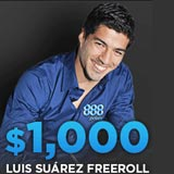 Luis Suarez Freeroll Turnier 888Poker