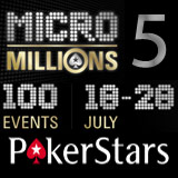 MicroMillions 5 PokerStars Turneringer