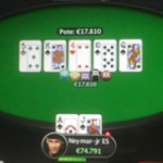 Neymar Royal Flush Poker online su PokerStars