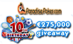 Paradise Poker - 10th Birthday
