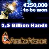 paradise poker billion hands