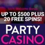Party Casino 20 Free Spins + Welcome Bonus