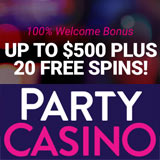party casino 20 free spins