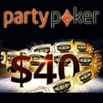 PartyPoker Bonus Turnering Billetter $40
