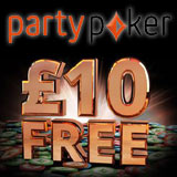 Party Poker Gratis £10 UK Spelare