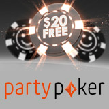 Party Poker 20$ gratis bonus