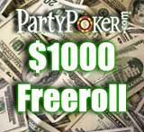 party poker freeroll december