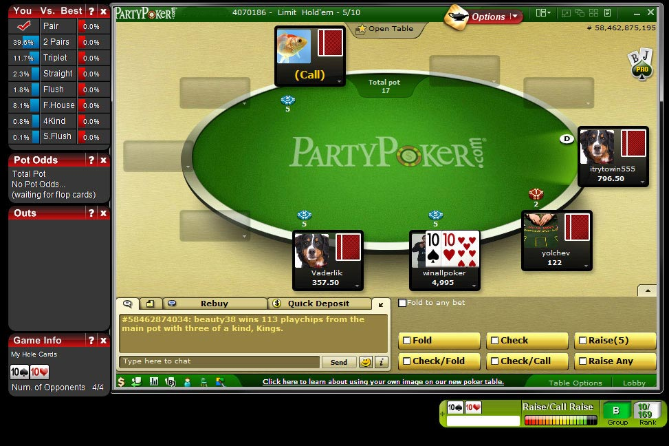 free poker odds calculator for full tilt